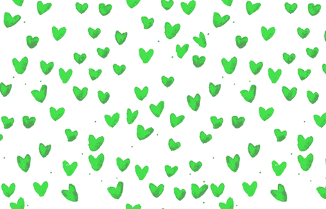 cestlaviv_New Green Watercolor Hearts  fabric by cest_la_viv on Spoonflower - custom fabric