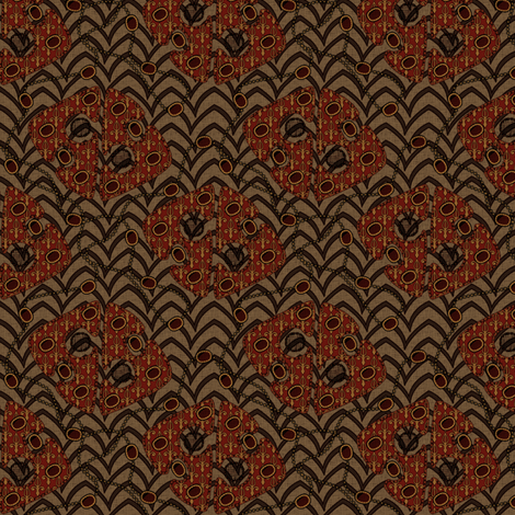 Royal Jewels Autumn fabric by glimmericks on Spoonflower - custom fabric
