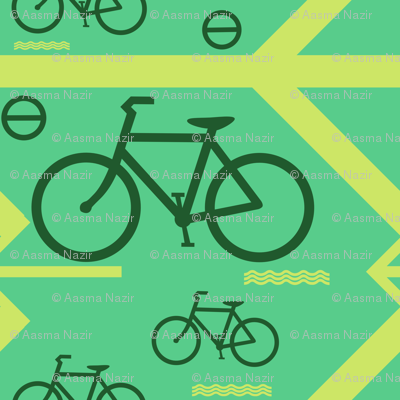 bicycle on the way
