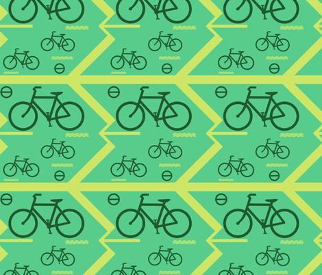 bicycle on the way fabric by raasma on Spoonflower - custom fabric