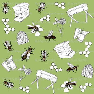 beekeeper - spring grass
