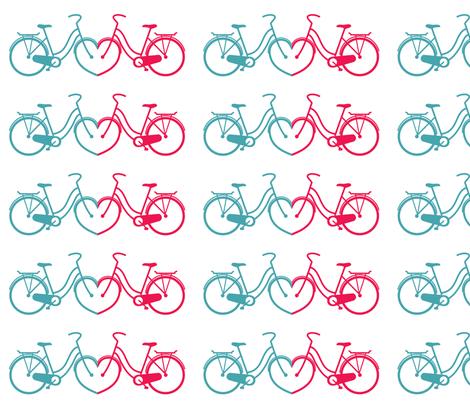 bicycle love fabric by lauralazin on Spoonflower - custom fabric