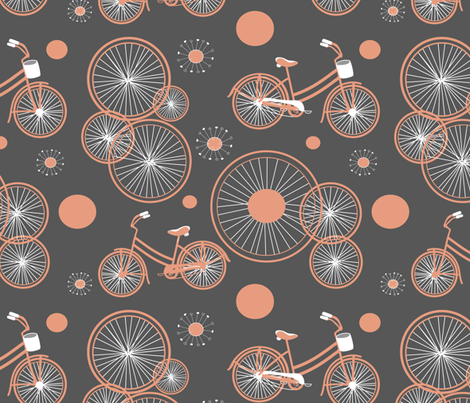 bicycles and wheels fabric by rm-designs on Spoonflower - custom fabric