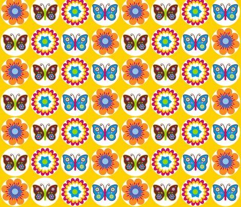 Rflowersbutterfliescirclesonyellow_shop_preview