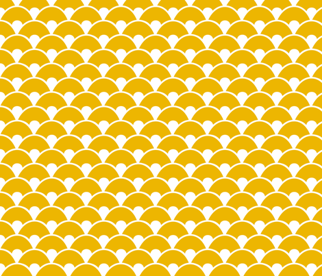 Mustard sea fabric by wantit on Spoonflower - custom fabric