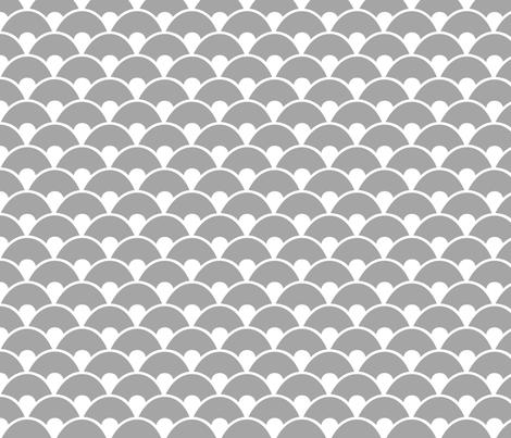 Grey sea fabric by wantit on Spoonflower - custom fabric
