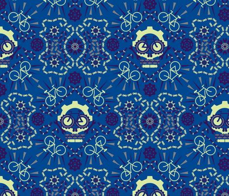 Dia de los Bicicletas fabric by leighr on Spoonflower - custom fabric