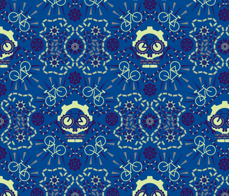 Dia de los Bicicletas fabric by leighr on Spoonflower - custom fabric
