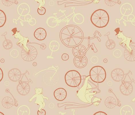 Bears_on_Bicycles fabric by angela_ethridge on Spoonflower - custom fabric