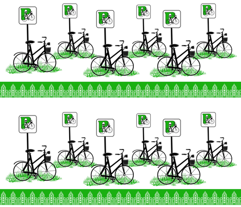 Bike Parking fabric by dancingwithfabric on Spoonflower - custom fabric