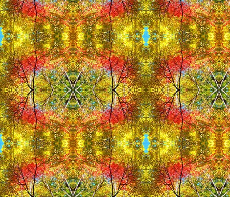 Autumn_Trees_1 fabric by a_house on Spoonflower - custom fabric