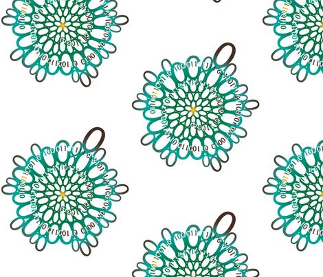 flowerpower_green fabric by veerapfaffli on Spoonflower - custom fabric
