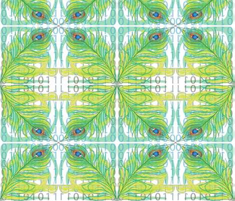 peacock fabric by veerapfaffli on Spoonflower - custom fabric