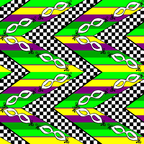 Fat Tuesday-Taken up a notch fabric by themasquerade on Spoonflower - custom fabric