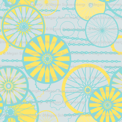 Bicycle Wheels Floral