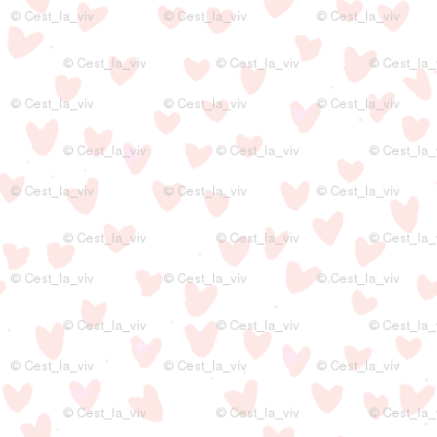 cestlaviv_MINI BLUSH HEARTS by C'EST LA VIV