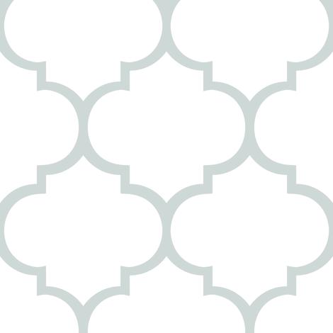 Fancy Lattice: Gray Outline fabric by frontdoor on Spoonflower - custom fabric