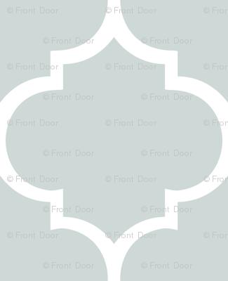 Fancy Lattice: White Outline & Gray