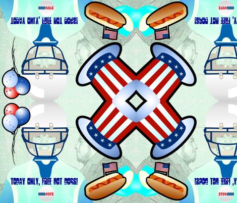 Free hot dogs fabric by _vandecraats on Spoonflower - custom fabric
