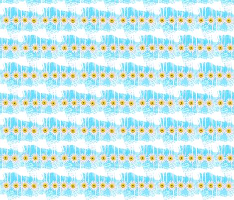 Springtime collection Primavera blue fabric by _vandecraats on Spoonflower - custom fabric