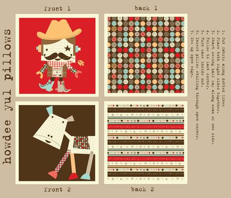 'Howdee Yul' pillows fabric by amel24 on Spoonflower - custom fabric