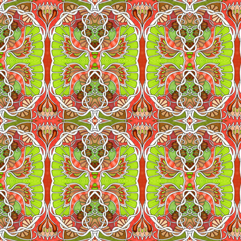 Psychedelic Hippie Revival fabric by edsel2084 on Spoonflower - custom fabric