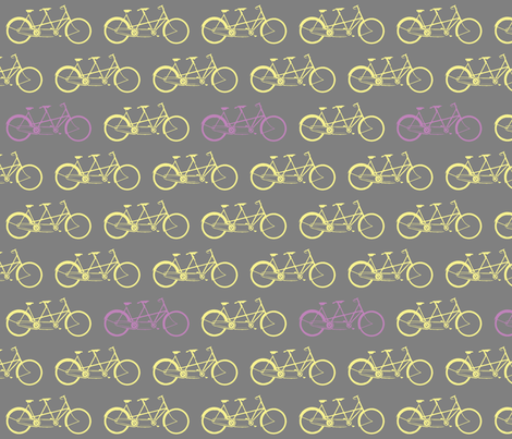 bicycle_built_for_two fabric by nncw12 on Spoonflower - custom fabric