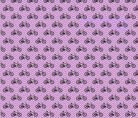 bicycles on chevrons fabric by lucybaribeau on Spoonflower - custom fabric