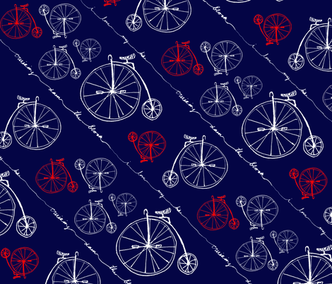 Retro Bike Lovin' fabric by etvisloc on Spoonflower - custom fabric