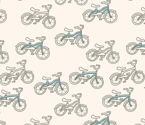 Little Blue Bicycle fabric by auki on Spoonflower - custom fabric
