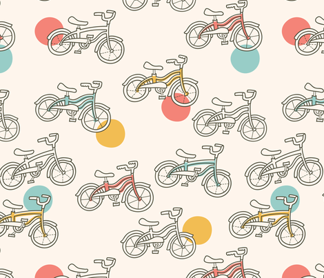 Bicycle Ride fabric by auki on Spoonflower - custom fabric