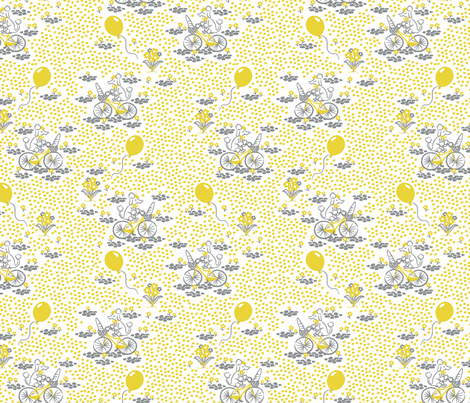 Paris poodle fabric by needlebook on Spoonflower - custom fabric
