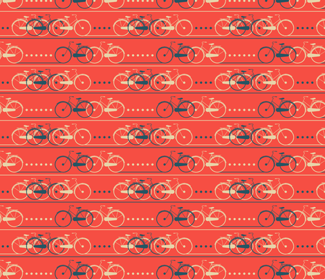 bike lane - red fabric by cheyanne_sammons on Spoonflower - custom fabric