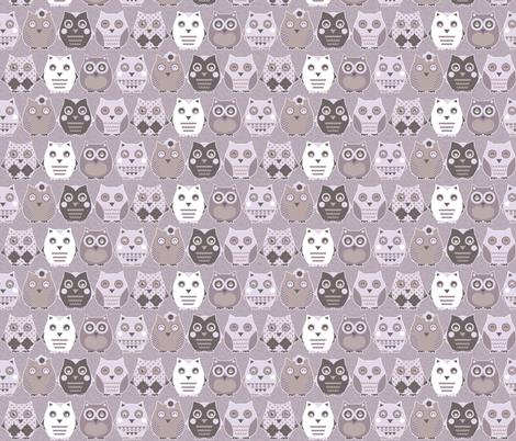 owls fabric by katarina on Spoonflower - custom fabric