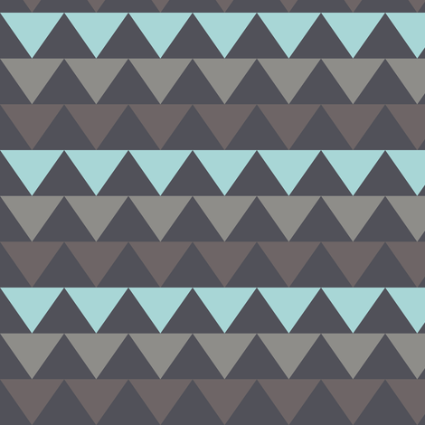 triangles_blue fabric by katarina on Spoonflower - custom fabric