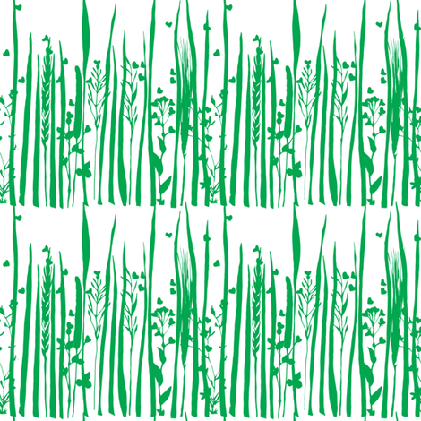 Grass is singing fabric by studiojelien on Spoonflower - custom fabric