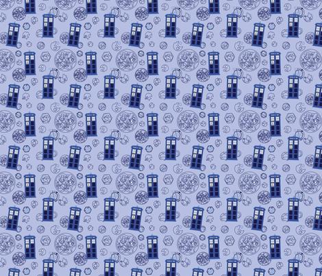 Madman in a Blue Box (half size) fabric by studiofibonacci on Spoonflower - custom fabric