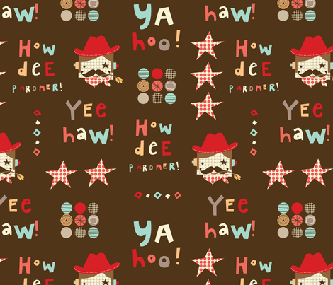 """Howdee Yul' world fabric by amel24 on Spoonflower - custom fabric"