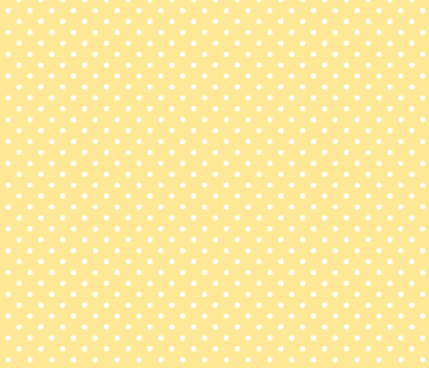 White dots on a yellow background fabric - rose-smoke - Spoonflower