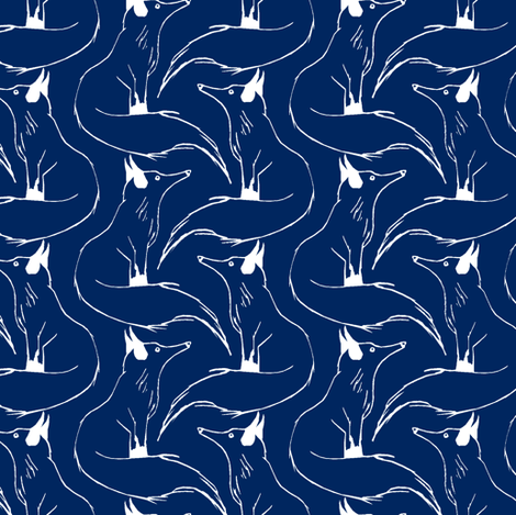 Arctic Foxes Color Request fabric by pond_ripple on Spoonflower - custom fabric