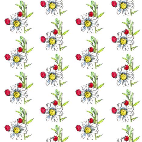 Ladybug Daisy fabric by countrygarden on Spoonflower - custom fabric