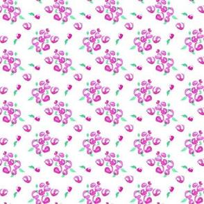 Pink Flower Ditsy Dot