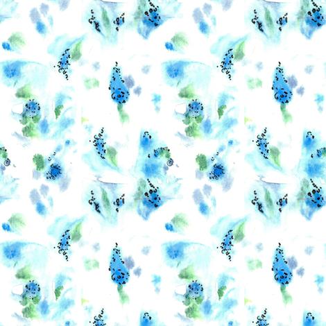 Flower Blues fabric by countrygarden on Spoonflower - custom fabric