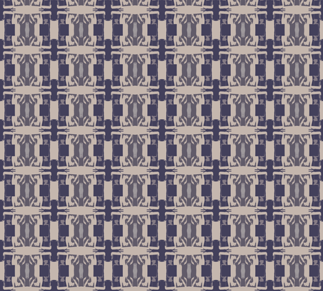 wallpaper- abstract Gray and Indigo fabric by susaninparis on Spoonflower - custom fabric