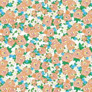 Ruffle Flowers Ditzy - Orange