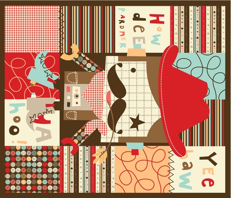 'Howdee Yul' quilt fabric by amel24 on Spoonflower - custom fabric
