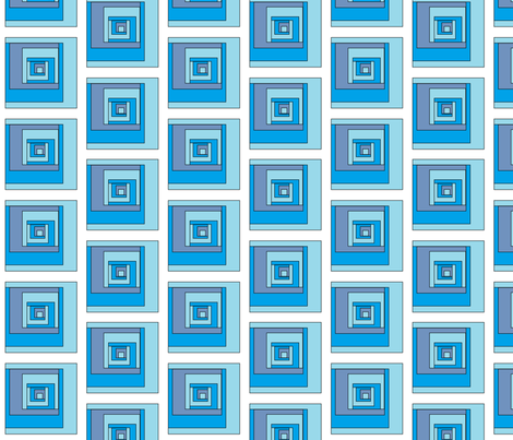 block_blue fabric by ~kcd~ on Spoonflower - custom fabric