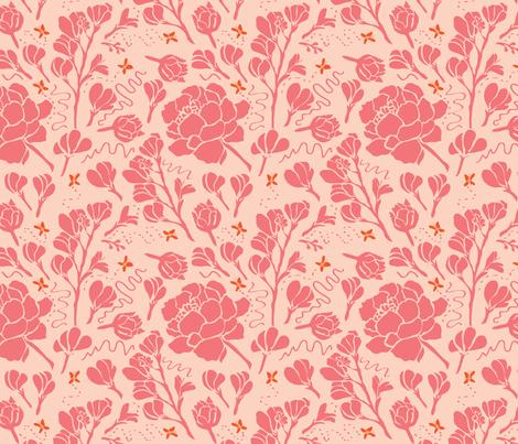Texas Modern Butterflies and Buds Bright fabric by jacinda on Spoonflower - custom fabric