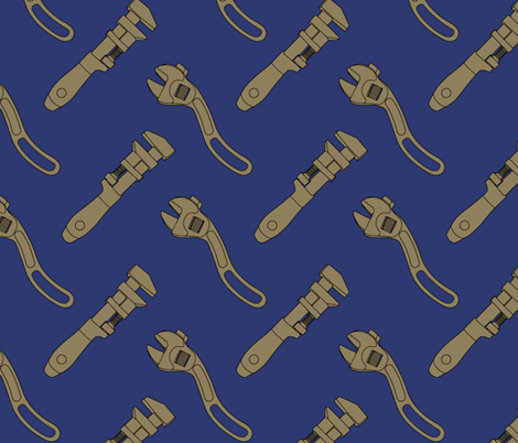 Wrenches fabric by blackdandy on Spoonflower - custom fabric