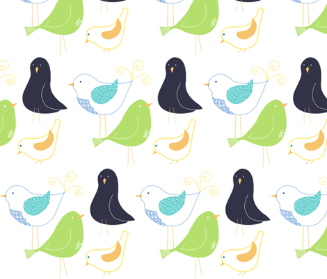 Hey Birdies fabric by meg56003 on Spoonflower - custom fabric